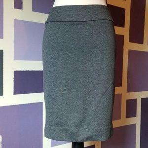 Halogen Skirts - Halogen Wool Look Herringbone Pencil Skirt